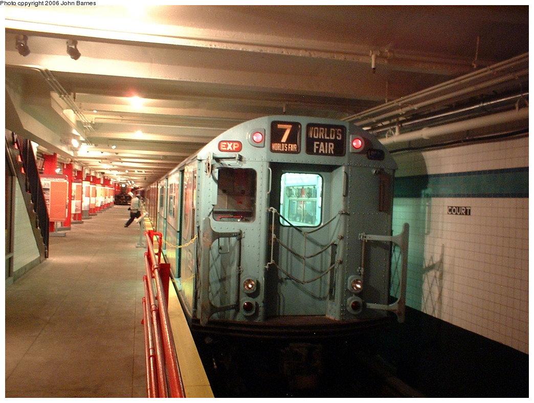 (178k, 1044x788)<br><b>Country:</b> United States<br><b>City:</b> New York<br><b>System:</b> New York City Transit<br><b>Location:</b> New York Transit Museum<br><b>Car:</b> R-33 World's Fair (St. Louis, 1963-64) 9306 <br><b>Photo by:</b> John Barnes<br><b>Date:</b> 9/13/2003<br><b>Viewed (this week/total):</b> 0 / 3806