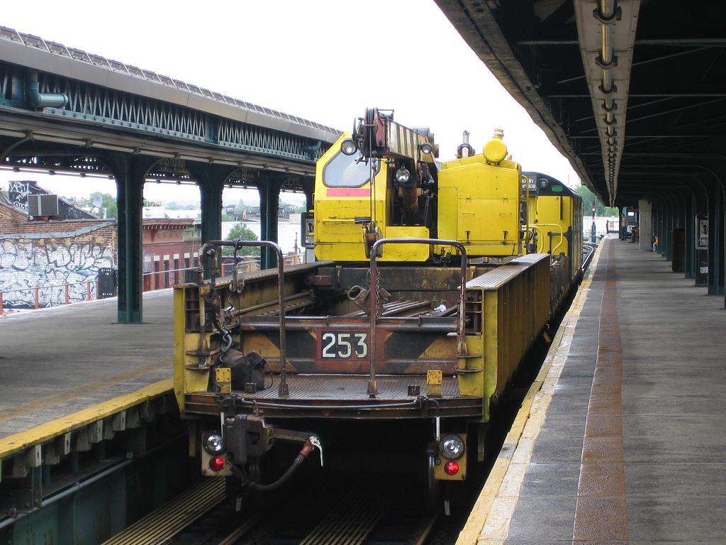 (137k, 1024x768)<br><b>Country:</b> United States<br><b>City:</b> New York<br><b>System:</b> New York City Transit<br><b>Line:</b> BMT Culver Line<br><b>Location:</b> Kings Highway <br><b>Route:</b> Work Service<br><b>Car:</b> Crane Car 253 <br><b>Photo by:</b> Michael Hodurski<br><b>Date:</b> 6/8/2006<br><b>Viewed (this week/total):</b> 5 / 1996