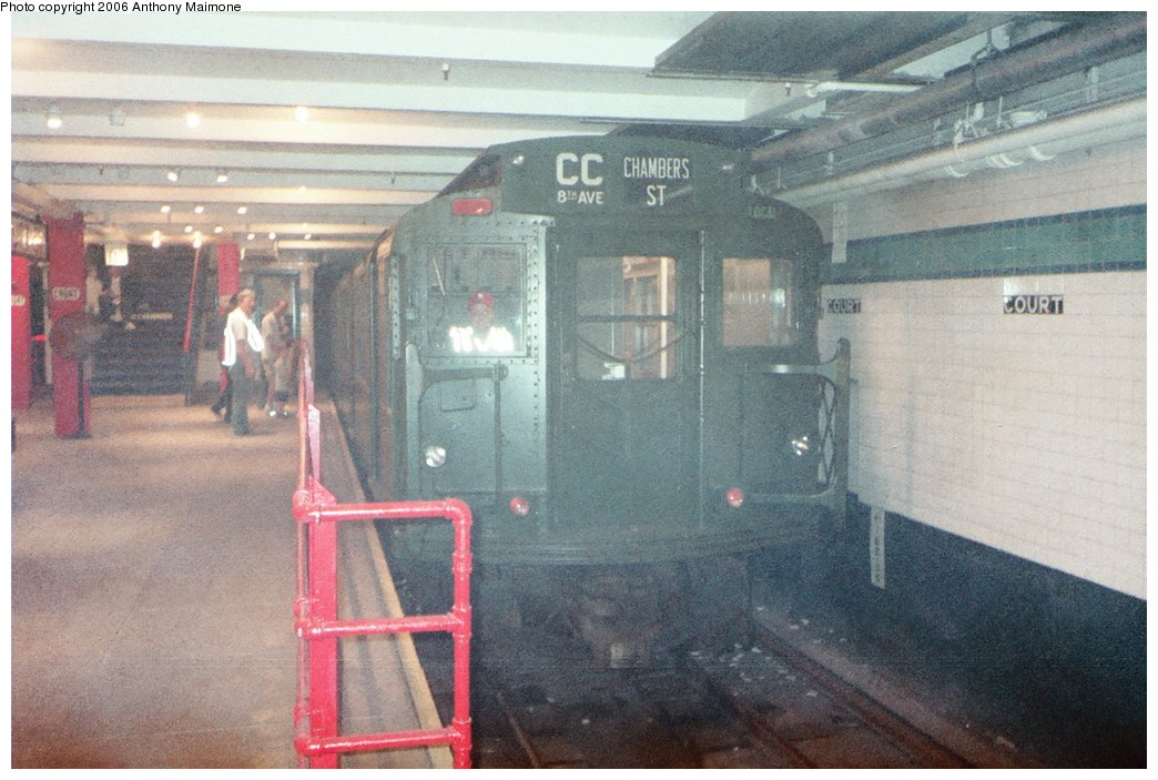 (171k, 1044x703)<br><b>Country:</b> United States<br><b>City:</b> New York<br><b>System:</b> New York City Transit<br><b>Location:</b> New York Transit Museum<br><b>Route:</b> Fan Trip<br><b>Car:</b> R-9 (Pressed Steel, 1940)  1802 <br><b>Photo by:</b> Anthony Maimone<br><b>Date:</b> 6/11/2006<br><b>Notes:</b> APTA conference special heading to Coney Island.<br><b>Viewed (this week/total):</b> 2 / 4212