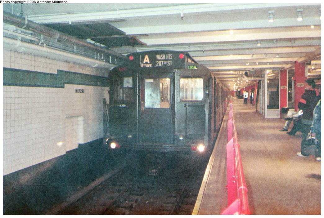 (187k, 1044x703)<br><b>Country:</b> United States<br><b>City:</b> New York<br><b>System:</b> New York City Transit<br><b>Location:</b> New York Transit Museum<br><b>Route:</b> Fan Trip<br><b>Car:</b> R-1 (American Car & Foundry, 1930-1931) 100 <br><b>Photo by:</b> Anthony Maimone<br><b>Date:</b> 6/11/2006<br><b>Notes:</b> APTA conference special heading to Coney Island.<br><b>Viewed (this week/total):</b> 3 / 3818