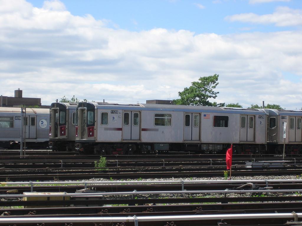 (116k, 1024x768)<br><b>Country:</b> United States<br><b>City:</b> New York<br><b>System:</b> New York City Transit<br><b>Location:</b> Coney Island Yard<br><b>Car:</b> R-142 (Option Order, Bombardier, 2002-2003)  1120 <br><b>Photo by:</b> Michael Hodurski<br><b>Date:</b> 6/10/2006<br><b>Viewed (this week/total):</b> 0 / 4129