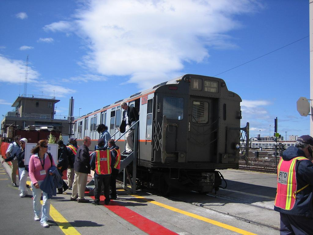 (114k, 1024x768)<br><b>Country:</b> United States<br><b>City:</b> New York<br><b>System:</b> New York City Transit<br><b>Location:</b> Coney Island Yard<br><b>Route:</b> Fan Trip<br><b>Car:</b> R-7A (Pullman, 1938)  1575 <br><b>Photo by:</b> Michael Hodurski<br><b>Date:</b> 6/10/2006<br><b>Notes:</b> APTA convention special shuttle between Coney Island Yard and Stillwell Ave.<br><b>Viewed (this week/total):</b> 1 / 4104