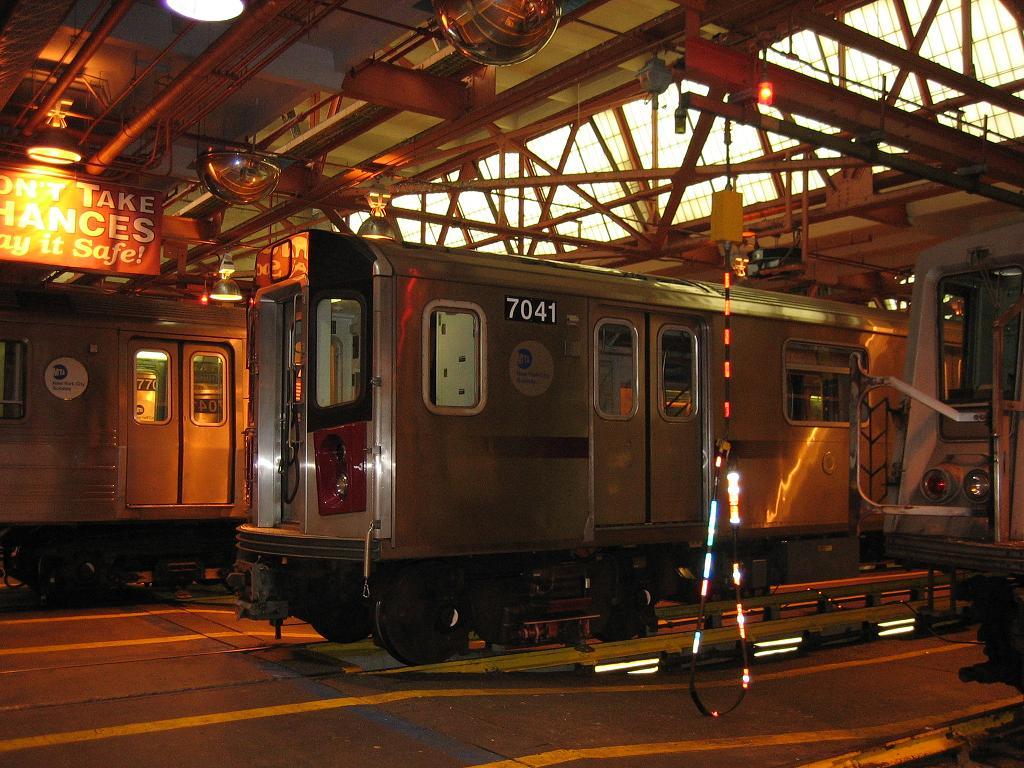 (149k, 1024x768)<br><b>Country:</b> United States<br><b>City:</b> New York<br><b>System:</b> New York City Transit<br><b>Location:</b> Coney Island Shop/Overhaul & Repair Shop<br><b>Car:</b> R-142 (Option Order, Bombardier, 2002-2003)  7041 <br><b>Photo by:</b> Michael Hodurski<br><b>Date:</b> 6/10/2006<br><b>Viewed (this week/total):</b> 0 / 3081