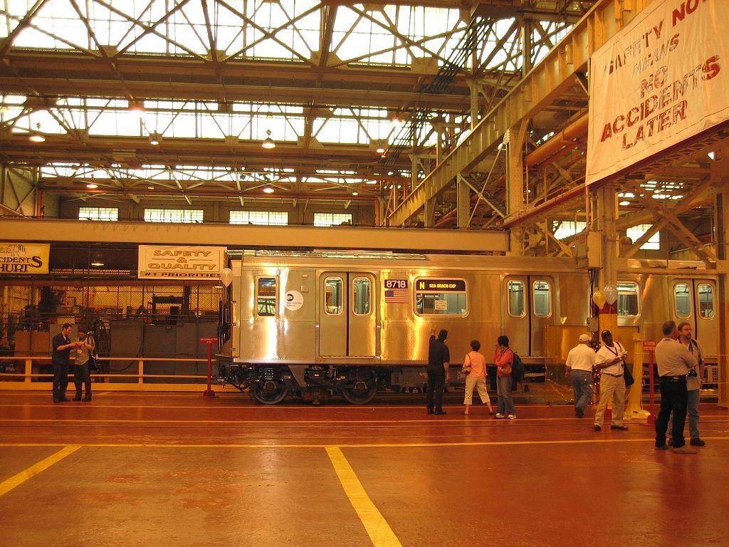 (172k, 1024x768)<br><b>Country:</b> United States<br><b>City:</b> New York<br><b>System:</b> New York City Transit<br><b>Location:</b> Coney Island Shop/Overhaul & Repair Shop<br><b>Car:</b> R-160B (Kawasaki, 2005-2008)  8718 <br><b>Photo by:</b> Michael Hodurski<br><b>Date:</b> 6/10/2006<br><b>Viewed (this week/total):</b> 0 / 4371