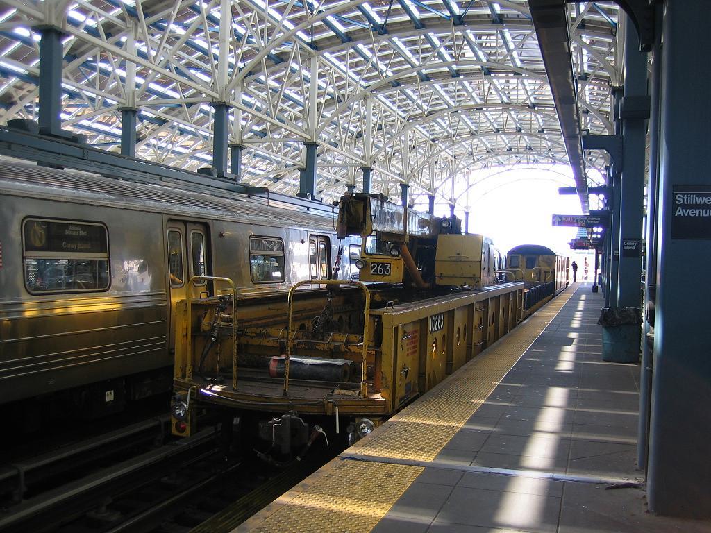 (171k, 1024x768)<br><b>Country:</b> United States<br><b>City:</b> New York<br><b>System:</b> New York City Transit<br><b>Location:</b> Coney Island/Stillwell Avenue<br><b>Route:</b> Work Service<br><b>Car:</b> R-113 Crane Car  263 <br><b>Photo by:</b> Michael Hodurski<br><b>Date:</b> 6/10/2006<br><b>Viewed (this week/total):</b> 1 / 2401