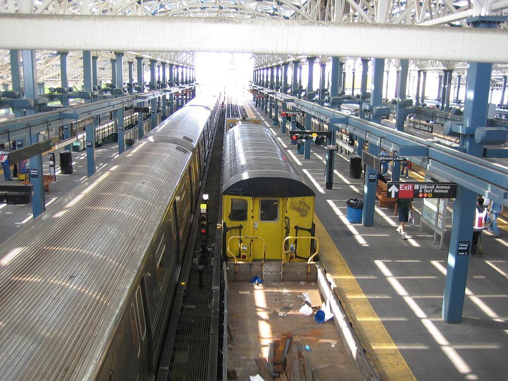 (183k, 1024x768)<br><b>Country:</b> United States<br><b>City:</b> New York<br><b>System:</b> New York City Transit<br><b>Location:</b> Coney Island/Stillwell Avenue<br><b>Route:</b> Work Service<br><b>Car:</b> R-161 Rider Car (ex-R-33)  RD407 (ex-8869)<br><b>Photo by:</b> Michael Hodurski<br><b>Date:</b> 6/10/2006<br><b>Viewed (this week/total):</b> 3 / 2694