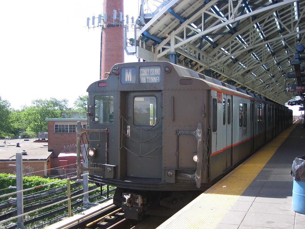(150k, 1024x768)<br><b>Country:</b> United States<br><b>City:</b> New York<br><b>System:</b> New York City Transit<br><b>Location:</b> Coney Island/Stillwell Avenue<br><b>Route:</b> Fan Trip<br><b>Car:</b> R-7A (Pullman, 1938)  1575 <br><b>Photo by:</b> Michael Hodurski<br><b>Date:</b> 6/10/2006<br><b>Notes:</b> APTA convention special shuttle between Coney Island Yard and Stillwell Ave.<br><b>Viewed (this week/total):</b> 0 / 2474