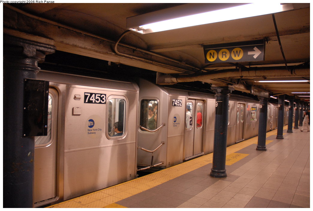 (164k, 1044x705)<br><b>Country:</b> United States<br><b>City:</b> New York<br><b>System:</b> New York City Transit<br><b>Line:</b> IRT East Side Line<br><b>Location:</b> 59th Street <br><b>Route:</b> 6<br><b>Car:</b> R-142A (Primary Order, Kawasaki, 1999-2002)  7452 <br><b>Photo by:</b> Richard Panse<br><b>Date:</b> 6/13/2006<br><b>Viewed (this week/total):</b> 7 / 6776