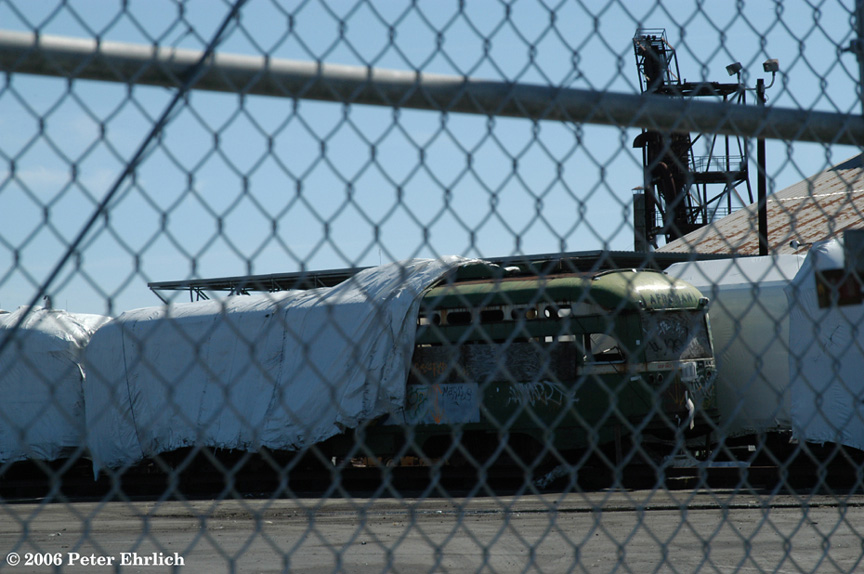 (174k, 864x574)<br><b>Country:</b> United States<br><b>City:</b> San Francisco/Bay Area, CA<br><b>System:</b> SF MUNI<br><b>Location:</b> Marin Division Depot <br><b>Car:</b> SF MUNI PCC Baby Ten (St. Louis Car Co, 1951)  1027 <br><b>Photo by:</b> Peter Ehrlich<br><b>Date:</b> 5/28/2006<br><b>Viewed (this week/total):</b> 1 / 2559