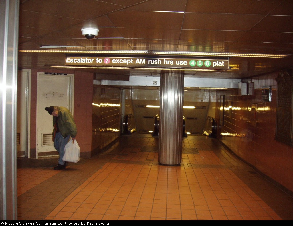 (162k, 1024x788)<br><b>Country:</b> United States<br><b>City:</b> New York<br><b>System:</b> New York City Transit<br><b>Line:</b> IRT Flushing Line<br><b>Location:</b> Grand Central <br><b>Photo by:</b> Kevin Wong<br><b>Date:</b> 4/29/2006<br><b>Notes:</b> Entrance to 7 platform from main concourse.<br><b>Viewed (this week/total):</b> 3 / 2576
