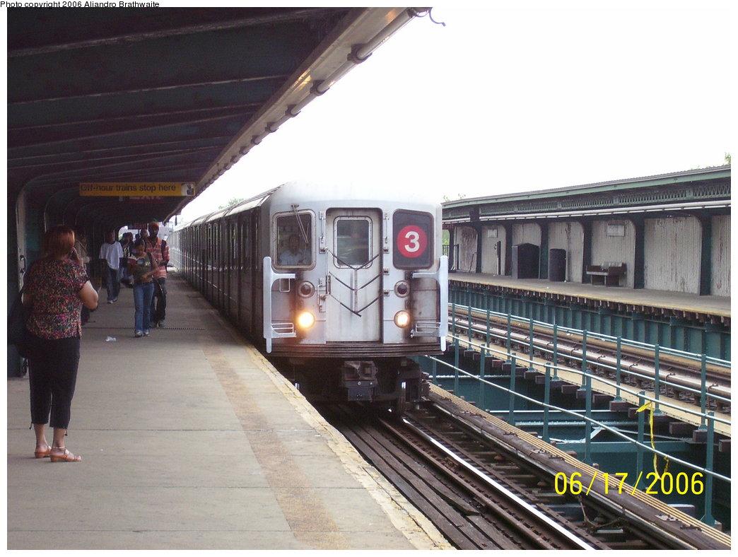 (177k, 1044x788)<br><b>Country:</b> United States<br><b>City:</b> New York<br><b>System:</b> New York City Transit<br><b>Line:</b> IRT Brooklyn Line<br><b>Location:</b> Van Siclen Avenue <br><b>Route:</b> 3<br><b>Car:</b> R-62 (Kawasaki, 1983-1985)  1301 <br><b>Photo by:</b> Aliandro Brathwaite<br><b>Date:</b> 6/17/2006<br><b>Viewed (this week/total):</b> 1 / 6163