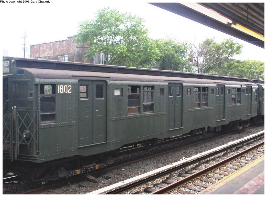 (185k, 1044x769)<br><b>Country:</b> United States<br><b>City:</b> New York<br><b>System:</b> New York City Transit<br><b>Line:</b> IND Rockaway<br><b>Location:</b> Rockaway Park/Beach 116th Street <br><b>Route:</b> Fan Trip<br><b>Car:</b> R-9 (Pressed Steel, 1940)  1802 <br><b>Photo by:</b> Gary Chatterton<br><b>Date:</b> 6/17/2006<br><b>Viewed (this week/total):</b> 4 / 1701