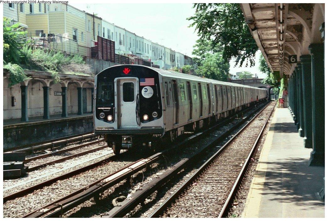 (219k, 1044x703)<br><b>Country:</b> United States<br><b>City:</b> New York<br><b>System:</b> New York City Transit<br><b>Line:</b> BMT Sea Beach Line<br><b>Location:</b> 20th Avenue <br><b>Car:</b> R-160A-2 (Alstom, 2005-2008, 5 car sets)  8653 <br><b>Photo by:</b> Anthony Maimone<br><b>Date:</b> 6/21/2006<br><b>Notes:</b> Testing R160A.<br><b>Viewed (this week/total):</b> 1 / 10749