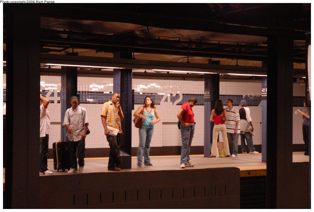 (151k, 1044x705)<br><b>Country:</b> United States<br><b>City:</b> New York<br><b>System:</b> New York City Transit<br><b>Line:</b> IND 8th Avenue Line<br><b>Location:</b> 42nd Street/Port Authority Bus Terminal <br><b>Photo by:</b> Richard Panse<br><b>Date:</b> 6/16/2006<br><b>Viewed (this week/total):</b> 1 / 3518