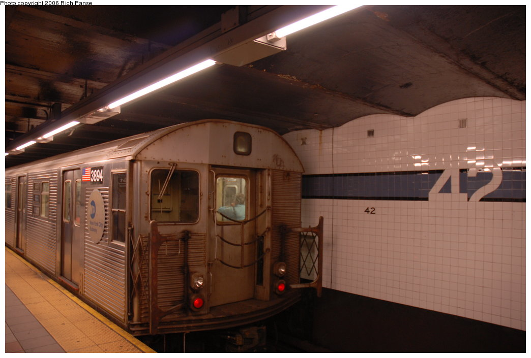(150k, 1044x705)<br><b>Country:</b> United States<br><b>City:</b> New York<br><b>System:</b> New York City Transit<br><b>Line:</b> IND 8th Avenue Line<br><b>Location:</b> 42nd Street/Port Authority Bus Terminal <br><b>Route:</b> C<br><b>Car:</b> R-32 (Budd, 1964)  3894 <br><b>Photo by:</b> Richard Panse<br><b>Date:</b> 6/16/2006<br><b>Viewed (this week/total):</b> 0 / 3670
