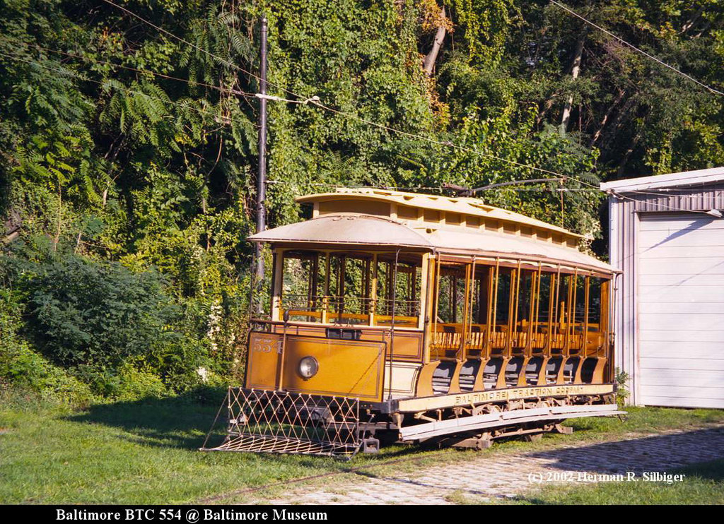 (348k, 1024x742)<br><b>Country:</b> United States<br><b>City:</b> Baltimore, MD<br><b>System:</b> Baltimore Streetcar Museum <br><b>Car:</b>  554 <br><b>Photo by:</b> Herman R. Silbiger<br><b>Date:</b> 2002<br><b>Viewed (this week/total):</b> 1 / 1127