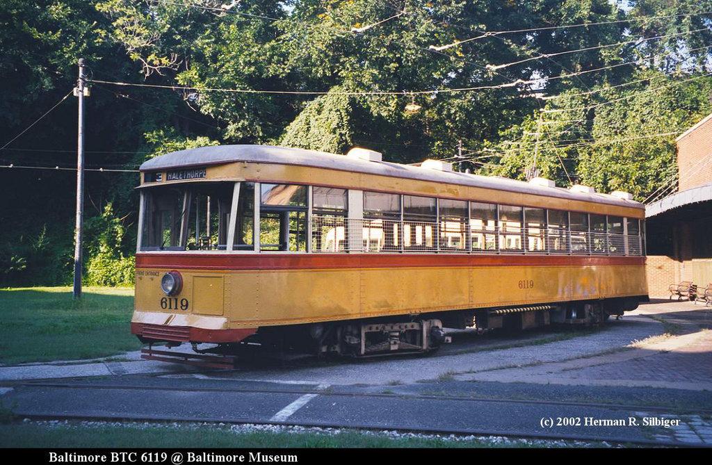 (248k, 1024x669)<br><b>Country:</b> United States<br><b>City:</b> Baltimore, MD<br><b>System:</b> Baltimore Streetcar Museum <br><b>Car:</b>  6119 <br><b>Photo by:</b> Herman R. Silbiger<br><b>Date:</b> 2002<br><b>Viewed (this week/total):</b> 0 / 1580