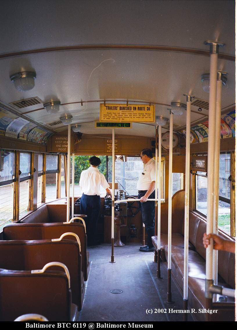 (164k, 816x1136)<br><b>Country:</b> United States<br><b>City:</b> Baltimore, MD<br><b>System:</b> Baltimore Streetcar Museum <br><b>Car:</b>  6119 <br><b>Photo by:</b> Herman R. Silbiger<br><b>Date:</b> 2002<br><b>Viewed (this week/total):</b> 0 / 1120