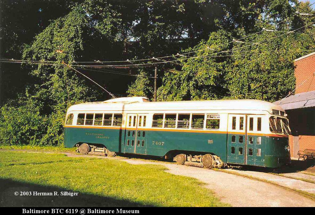(311k, 1024x701)<br><b>Country:</b> United States<br><b>City:</b> Baltimore, MD<br><b>System:</b> Baltimore Streetcar Museum <br><b>Car:</b> PCC 7407 <br><b>Photo by:</b> Herman R. Silbiger<br><b>Date:</b> 2003<br><b>Viewed (this week/total):</b> 3 / 996
