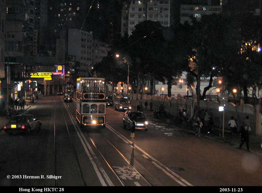 (162k, 1024x756)<br><b>Country:</b> China (Hong Kong)<br><b>City:</b> Hong Kong<br><b>System:</b> Hong Kong Tramway Ltd.<br><b>Car:</b>  28 <br><b>Photo by:</b> Herman R. Silbiger<br><b>Date:</b> 11/22/2003<br><b>Viewed (this week/total):</b> 2 / 988