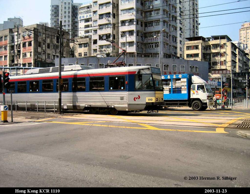(240k, 1024x795)<br><b>Country:</b> China (Hong Kong)<br><b>City:</b> Hong Kong<br><b>System:</b> Hong Kong MTR Light Rail<br><b>Car:</b>  1110 <br><b>Photo by:</b> Herman R. Silbiger<br><b>Date:</b> 11/22/2003<br><b>Viewed (this week/total):</b> 2 / 1626