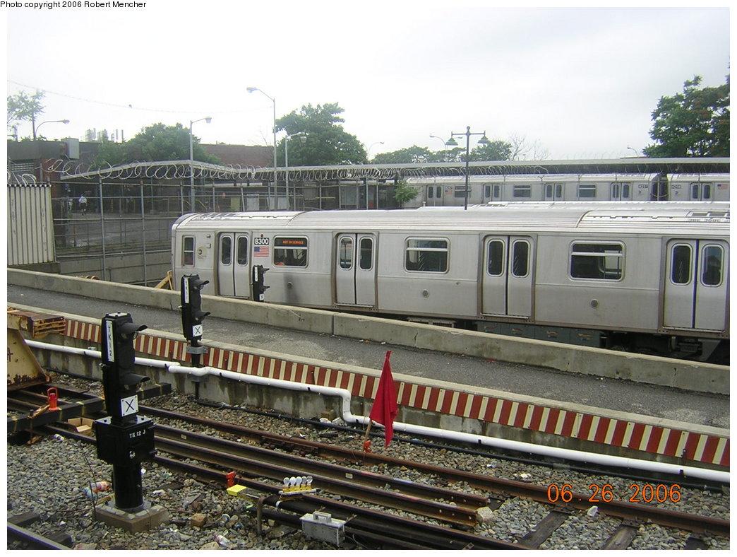 (234k, 1044x788)<br><b>Country:</b> United States<br><b>City:</b> New York<br><b>System:</b> New York City Transit<br><b>Location:</b> Rockaway Parkway (Canarsie) Yard<br><b>Car:</b> R-143 (Kawasaki, 2001-2002) 8300 <br><b>Photo by:</b> Robert Mencher<br><b>Date:</b> 6/26/2006<br><b>Viewed (this week/total):</b> 0 / 4628