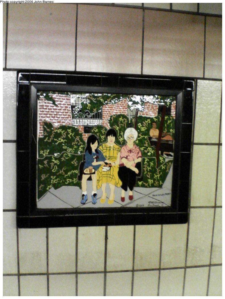 (136k, 788x1044)<br><b>Country:</b> United States<br><b>City:</b> New York<br><b>System:</b> New York City Transit<br><b>Line:</b> IRT West Side Line<br><b>Location:</b> 86th Street <br><b>Photo by:</b> John Barnes<br><b>Date:</b> 7/2/2006<br><b>Artwork:</b> <i>Westside Views</i>, Nitza Tufino (1989).<br><b>Viewed (this week/total):</b> 0 / 1740