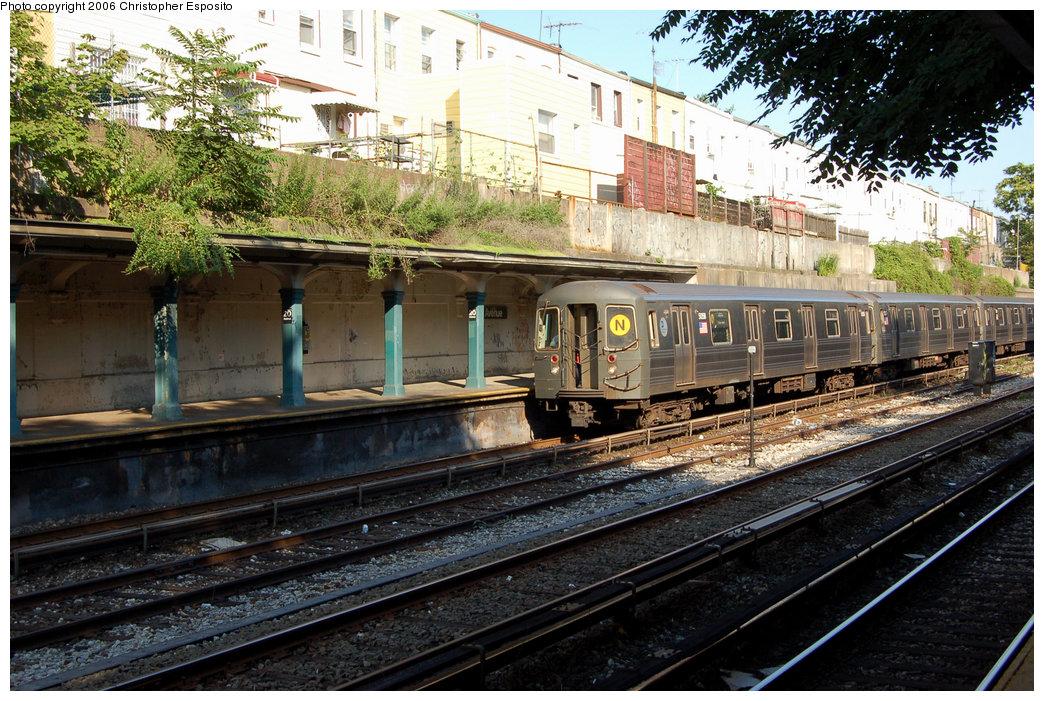 (266k, 1044x701)<br><b>Country:</b> United States<br><b>City:</b> New York<br><b>System:</b> New York City Transit<br><b>Line:</b> BMT Sea Beach Line<br><b>Location:</b> 20th Avenue <br><b>Route:</b> N<br><b>Car:</b> R-68A (Kawasaki, 1988-1989)  5058 <br><b>Photo by:</b> Christopher Esposito<br><b>Date:</b> 7/7/2006<br><b>Viewed (this week/total):</b> 0 / 2097