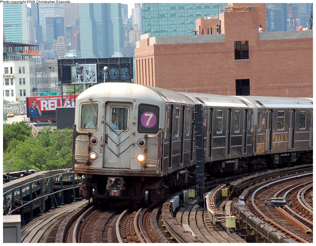 (300k, 1044x812)<br><b>Country:</b> United States<br><b>City:</b> New York<br><b>System:</b> New York City Transit<br><b>Line:</b> IRT Flushing Line<br><b>Location:</b> 33rd Street/Rawson Street <br><b>Route:</b> 7<br><b>Car:</b> R-62A (Bombardier, 1984-1987)  2xxx <br><b>Photo by:</b> Christopher Esposito<br><b>Date:</b> 7/7/2006<br><b>Viewed (this week/total):</b> 0 / 2858