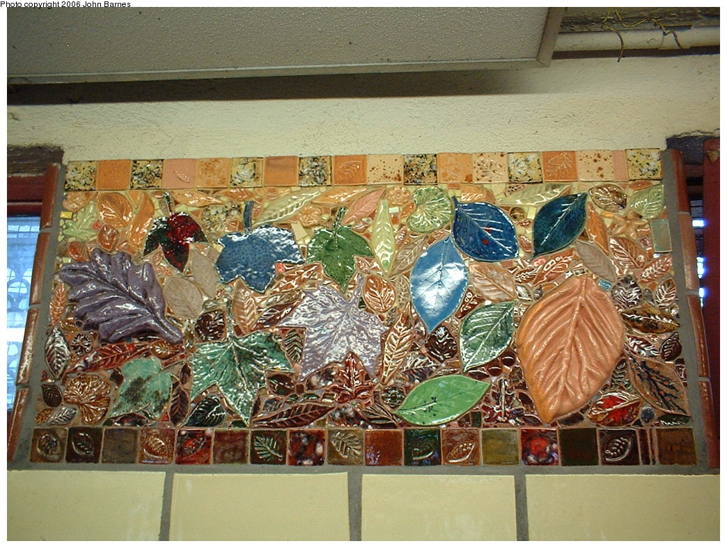 (258k, 1044x788)<br><b>Country:</b> United States<br><b>City:</b> New York<br><b>System:</b> New York City Transit<br><b>Line:</b> BMT Brighton Line<br><b>Location:</b> Parkside Avenue <br><b>Photo by:</b> John Barnes<br><b>Date:</b> 7/9/2006<br><b>Artwork:</b> <i>Brighton Clay Re-Leaf</i>, Susan Tunick (1994).<br><b>Viewed (this week/total):</b> 0 / 2939