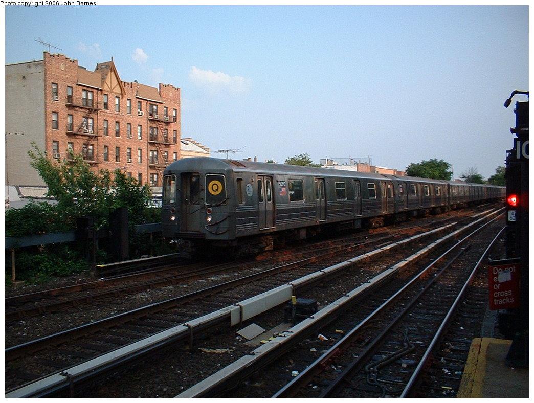(196k, 1044x788)<br><b>Country:</b> United States<br><b>City:</b> New York<br><b>System:</b> New York City Transit<br><b>Line:</b> BMT Brighton Line<br><b>Location:</b> Kings Highway <br><b>Route:</b> Q<br><b>Car:</b> R-68A (Kawasaki, 1988-1989)  5066 <br><b>Photo by:</b> John Barnes<br><b>Date:</b> 7/9/2006<br><b>Viewed (this week/total):</b> 0 / 2469