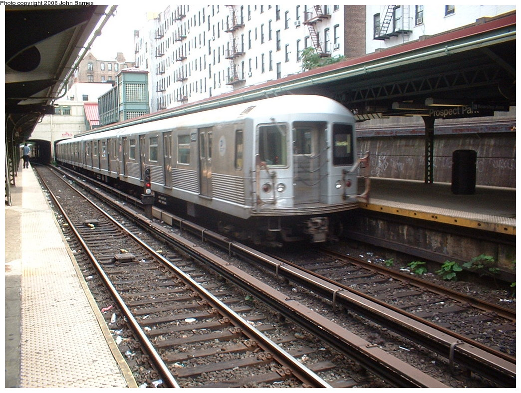 (239k, 1044x788)<br><b>Country:</b> United States<br><b>City:</b> New York<br><b>System:</b> New York City Transit<br><b>Line:</b> BMT Brighton Line<br><b>Location:</b> Prospect Park <br><b>Route:</b> S (G.O.)<br><b>Car:</b> R-42 (St. Louis, 1969-1970)  4553 <br><b>Photo by:</b> Robert Ferreira<br><b>Date:</b> 7/8/2006<br><b>Viewed (this week/total):</b> 0 / 1650