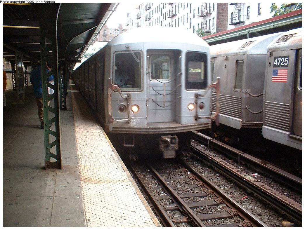 (214k, 1044x788)<br><b>Country:</b> United States<br><b>City:</b> New York<br><b>System:</b> New York City Transit<br><b>Line:</b> BMT Brighton Line<br><b>Location:</b> Prospect Park <br><b>Route:</b> S (G.O.)<br><b>Car:</b> R-42 (St. Louis, 1969-1970)  4553 <br><b>Photo by:</b> Robert Ferreira<br><b>Date:</b> 7/8/2006<br><b>Viewed (this week/total):</b> 1 / 2610