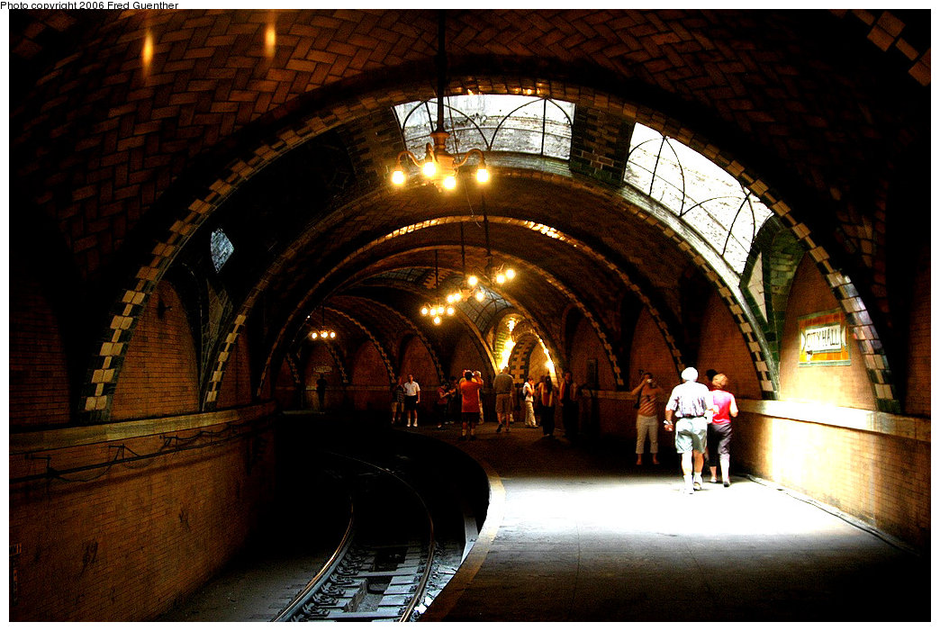 (209k, 1044x701)<br><b>Country:</b> United States<br><b>City:</b> New York<br><b>System:</b> New York City Transit<br><b>Line:</b> IRT East Side Line<br><b>Location:</b> City Hall <br><b>Photo by:</b> Fred Guenther<br><b>Date:</b> 7/9/2006<br><b>Viewed (this week/total):</b> 0 / 7342