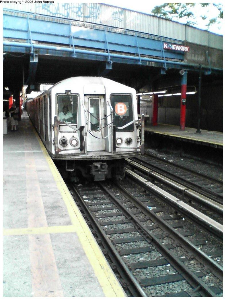 (164k, 788x1044)<br><b>Country:</b> United States<br><b>City:</b> New York<br><b>System:</b> New York City Transit<br><b>Line:</b> BMT Brighton Line<br><b>Location:</b> Newkirk Plaza (fmrly Newkirk Ave.) <br><b>Route:</b> B<br><b>Car:</b> R-40 (St. Louis, 1968)  4224 <br><b>Photo by:</b> John Barnes<br><b>Date:</b> 7/10/2006<br><b>Viewed (this week/total):</b> 2 / 2535