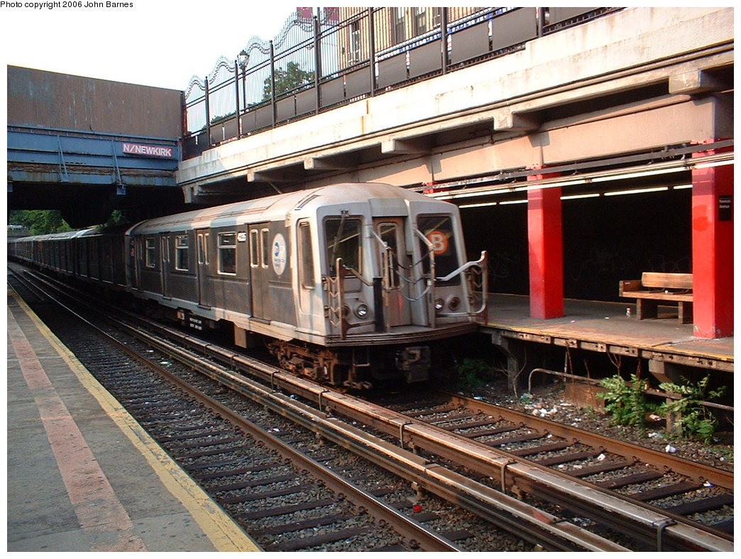 (244k, 1044x788)<br><b>Country:</b> United States<br><b>City:</b> New York<br><b>System:</b> New York City Transit<br><b>Line:</b> BMT Brighton Line<br><b>Location:</b> Newkirk Plaza (fmrly Newkirk Ave.) <br><b>Route:</b> Q<br><b>Car:</b> R-40 (St. Louis, 1968)   <br><b>Photo by:</b> John Barnes<br><b>Date:</b> 7/10/2006<br><b>Viewed (this week/total):</b> 0 / 3633