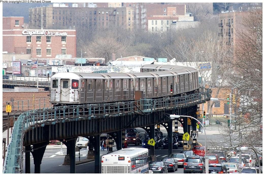 (283k, 1044x694)<br><b>Country:</b> United States<br><b>City:</b> New York<br><b>System:</b> New York City Transit<br><b>Line:</b> IRT West Side Line<br><b>Location:</b> 225th Street <br><b>Route:</b> 1<br><b>Car:</b> R-62A (Bombardier, 1984-1987)   <br><b>Photo by:</b> Richard Chase<br><b>Date:</b> 3/25/2010<br><b>Viewed (this week/total):</b> 0 / 1622