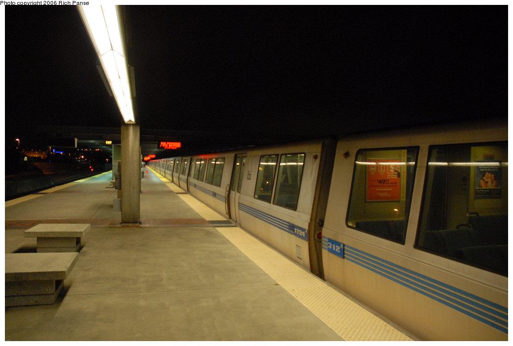 (141k, 1044x705)<br><b>Country:</b> United States<br><b>City:</b> San Francisco/Bay Area, CA<br><b>System:</b> BART<br><b>Location:</b> Daly City <br><b>Car:</b> BART 1724/312 <br><b>Photo by:</b> Richard Panse<br><b>Date:</b> 6/30/2006<br><b>Viewed (this week/total):</b> 2 / 1376
