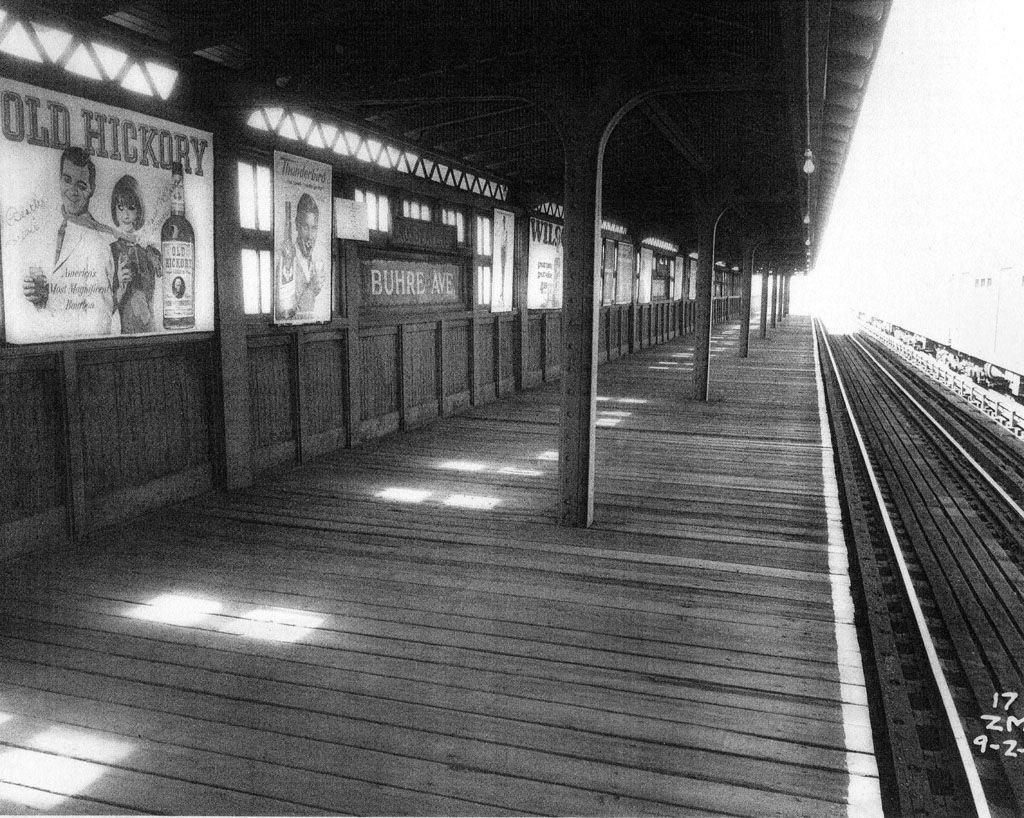 (253k, 1024x818)<br><b>Country:</b> United States<br><b>City:</b> New York<br><b>System:</b> New York City Transit<br><b>Line:</b> IRT Pelham Line<br><b>Location:</b> Buhre Avenue <br><b>Collection of:</b> Al Westerfield<br><b>Date:</b> 9/2/1965<br><b>Viewed (this week/total):</b> 2 / 1970