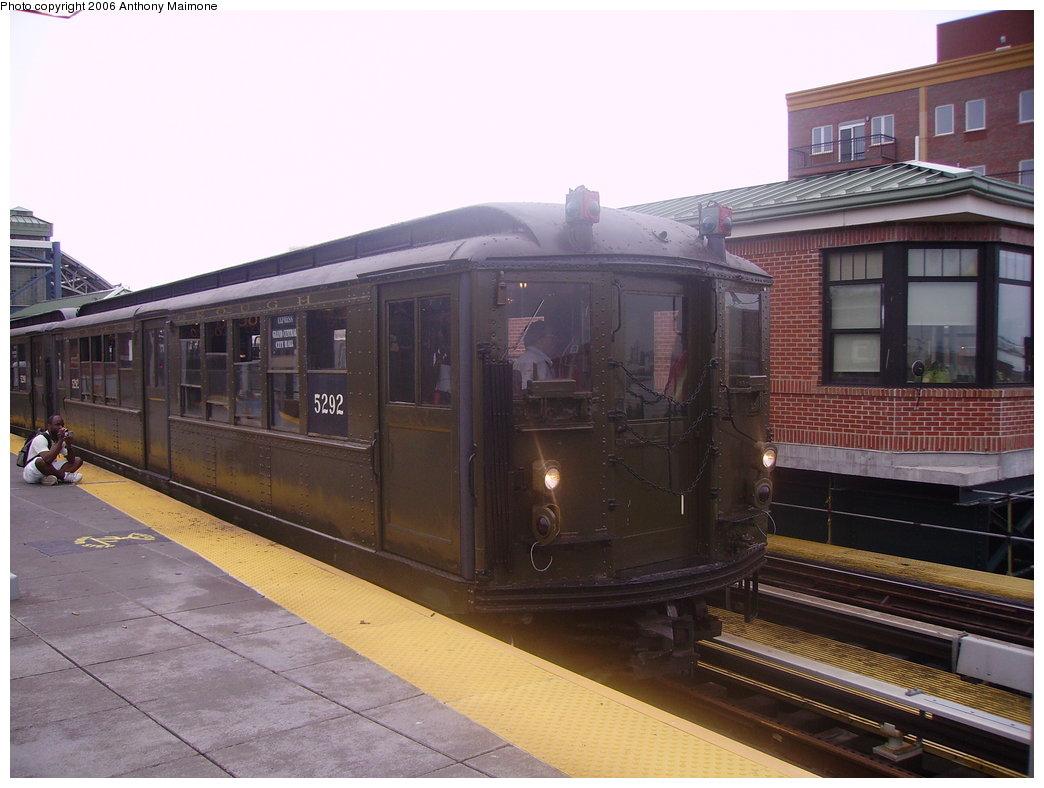 (170k, 1044x788)<br><b>Country:</b> United States<br><b>City:</b> New York<br><b>System:</b> New York City Transit<br><b>Location:</b> Coney Island/Stillwell Avenue<br><b>Route:</b> Fan Trip<br><b>Car:</b> Low-V (Museum Train) 5292 <br><b>Photo by:</b> Anthony Maimone<br><b>Date:</b> 7/22/2006<br><b>Viewed (this week/total):</b> 2 / 1862