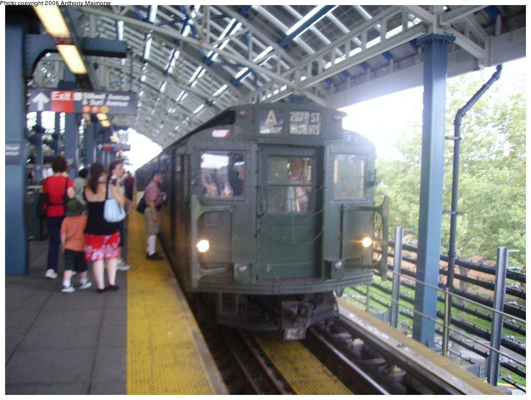(180k, 1044x788)<br><b>Country:</b> United States<br><b>City:</b> New York<br><b>System:</b> New York City Transit<br><b>Location:</b> Coney Island/Stillwell Avenue<br><b>Route:</b> Fan Trip<br><b>Car:</b> R-9 (Pressed Steel, 1940)  1802 <br><b>Photo by:</b> Anthony Maimone<br><b>Date:</b> 7/22/2006<br><b>Viewed (this week/total):</b> 0 / 2758