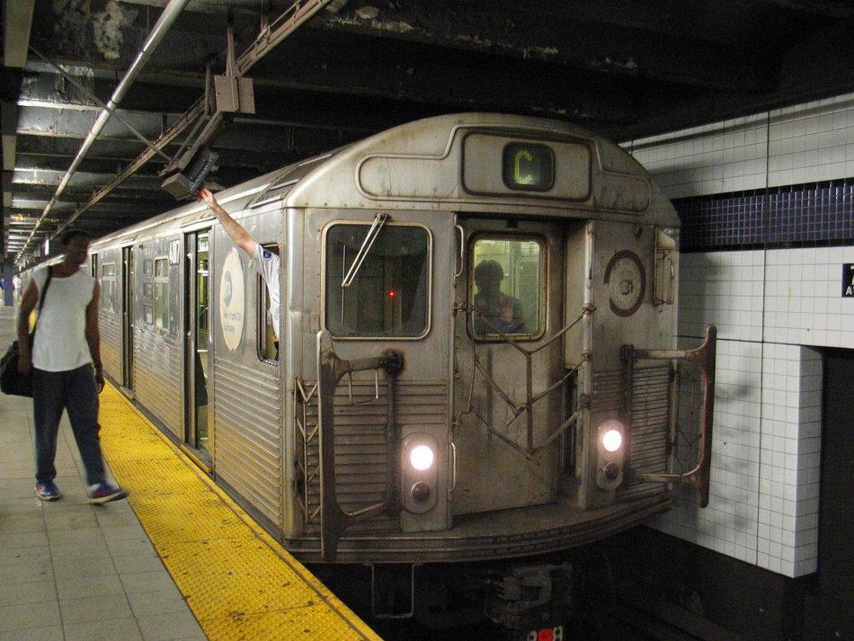 (156k, 950x713)<br><b>Country:</b> United States<br><b>City:</b> New York<br><b>System:</b> New York City Transit<br><b>Line:</b> IND Queens Boulevard Line<br><b>Location:</b> 7th Avenue/53rd Street <br><b>Route:</b> C<br><b>Car:</b> R-38 (St. Louis, 1966-1967)  4017 <br><b>Photo by:</b> David of Broadway<br><b>Date:</b> 7/16/2006<br><b>Notes:</b> C train via 6th Avenue reroute.<br><b>Viewed (this week/total):</b> 0 / 4630