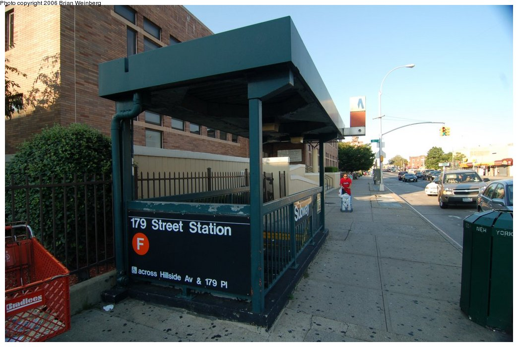 (198k, 1044x700)<br><b>Country:</b> United States<br><b>City:</b> New York<br><b>System:</b> New York City Transit<br><b>Line:</b> IND Queens Boulevard Line<br><b>Location:</b> 179th Street <br><b>Photo by:</b> Brian Weinberg<br><b>Date:</b> 7/16/2006<br><b>Notes:</b> Entrance<br><b>Viewed (this week/total):</b> 1 / 4707