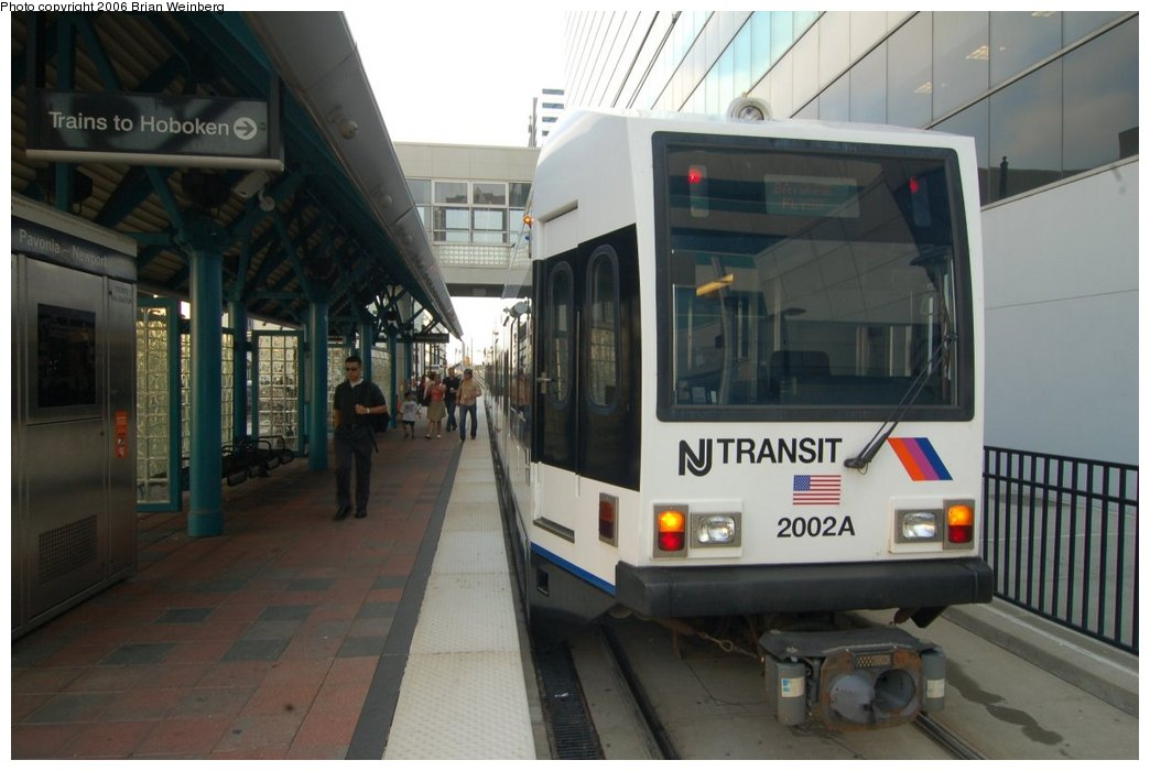 (178k, 1044x700)<br><b>Country:</b> United States<br><b>City:</b> Jersey City, NJ<br><b>System:</b> Hudson Bergen Light Rail<br><b>Location:</b> Pavonia/Newport <br><b>Car:</b> NJT-HBLR LRV (Kinki-Sharyo, 1998-99)  2002 <br><b>Photo by:</b> Brian Weinberg<br><b>Date:</b> 7/19/2006<br><b>Viewed (this week/total):</b> 3 / 2225