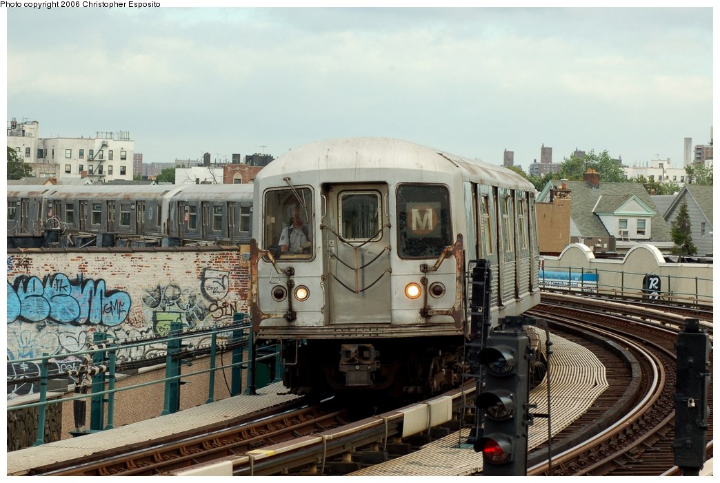 (164k, 1044x701)<br><b>Country:</b> United States<br><b>City:</b> New York<br><b>System:</b> New York City Transit<br><b>Line:</b> BMT West End Line<br><b>Location:</b> 18th Avenue <br><b>Route:</b> M<br><b>Car:</b> R-42 (St. Louis, 1969-1970)  4814 <br><b>Photo by:</b> Christopher Esposito<br><b>Date:</b> 7/20/2006<br><b>Viewed (this week/total):</b> 4 / 2229