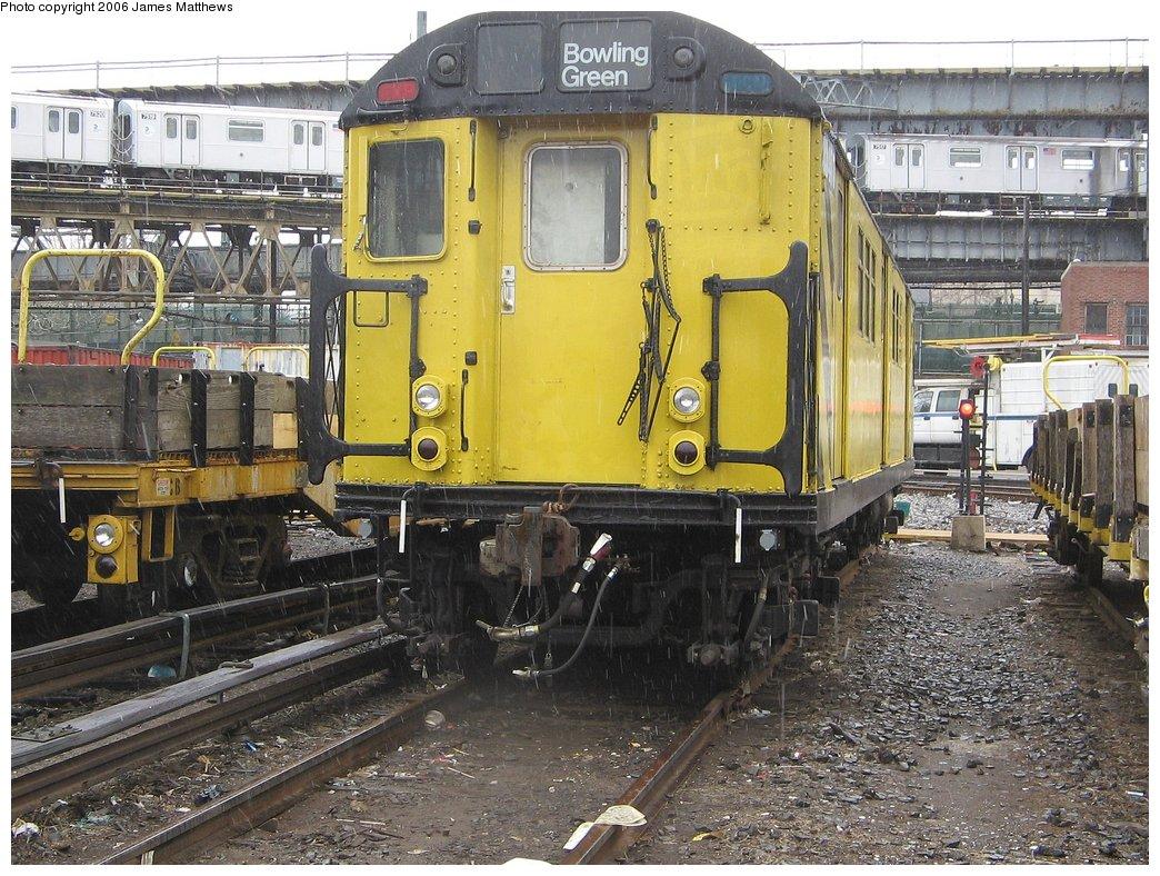 (238k, 1044x788)<br><b>Country:</b> United States<br><b>City:</b> New York<br><b>System:</b> New York City Transit<br><b>Location:</b> Westchester Yard<br><b>Car:</b> R-161 Rider Car (ex-R-33)  RD407 (ex-8869)<br><b>Photo by:</b> James Matthews<br><b>Date:</b> 4/4/2006<br><b>Viewed (this week/total):</b> 0 / 3287