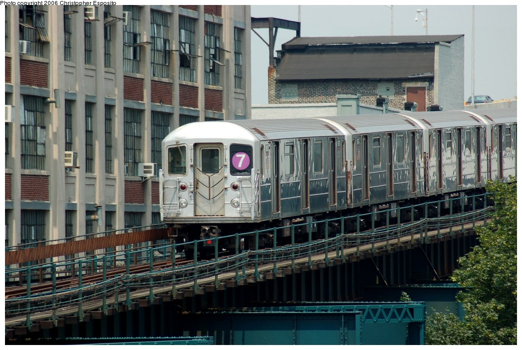 (174k, 1044x701)<br><b>Country:</b> United States<br><b>City:</b> New York<br><b>System:</b> New York City Transit<br><b>Line:</b> IRT Flushing Line<br><b>Location:</b> Court House Square/45th Road <br><b>Route:</b> 7<br><b>Car:</b> R-62A (Bombardier, 1984-1987)   <br><b>Photo by:</b> Christopher Esposito<br><b>Date:</b> 7/26/2006<br><b>Viewed (this week/total):</b> 0 / 1979