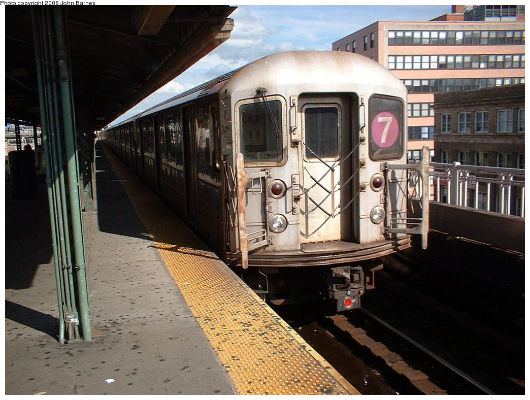(202k, 1044x788)<br><b>Country:</b> United States<br><b>City:</b> New York<br><b>System:</b> New York City Transit<br><b>Line:</b> IRT Flushing Line<br><b>Location:</b> Queensborough Plaza <br><b>Route:</b> 7<br><b>Car:</b> R-62A (Bombardier, 1984-1987)  1668 <br><b>Photo by:</b> John Barnes<br><b>Date:</b> 7/23/2006<br><b>Viewed (this week/total):</b> 0 / 2610