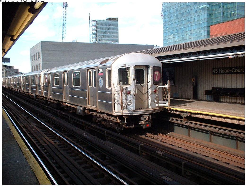 (203k, 1044x788)<br><b>Country:</b> United States<br><b>City:</b> New York<br><b>System:</b> New York City Transit<br><b>Line:</b> IRT Flushing Line<br><b>Location:</b> Court House Square/45th Road <br><b>Route:</b> 7<br><b>Car:</b> R-62A (Bombardier, 1984-1987)  1785 <br><b>Photo by:</b> John Barnes<br><b>Date:</b> 7/23/2006<br><b>Viewed (this week/total):</b> 0 / 2157