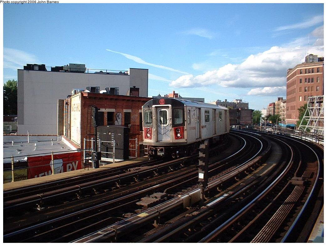 (192k, 1044x788)<br><b>Country:</b> United States<br><b>City:</b> New York<br><b>System:</b> New York City Transit<br><b>Line:</b> IRT White Plains Road Line<br><b>Location:</b> Simpson Street <br><b>Route:</b> 5<br><b>Car:</b> R-142 (Primary Order, Bombardier, 1999-2002)  6961 <br><b>Photo by:</b> John Barnes<br><b>Date:</b> 7/23/2006<br><b>Viewed (this week/total):</b> 1 / 3920